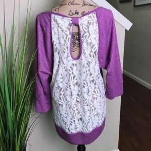 Very cute sweatshirt from Maurice's, lace back